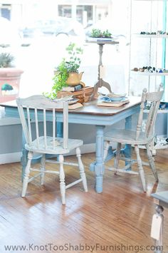 Antique Farm Style Square Dining Table