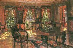 Interior living room, Stanislav Yulianovich Zhukovsky. Polish (1875–1944)