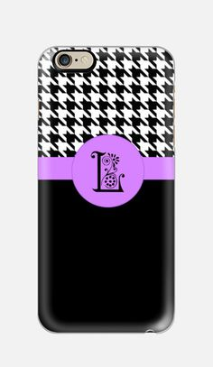 PREMIUM TOUGH PT Houndstooth Check iPhone by cellcasebythatsnancy Iphone 6 Cases, Samsung Galaxy Cases, Designer Cell Phone Cases, Best Cell Phone, 6s Plus Case, Houndstooth, Monogram, Purple, Lace