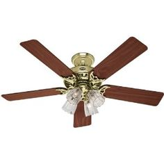 Harbor Breeze 52 In Wolcott Polished Brass Ceiling Fan Energy Star For The Home Pinterest