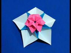 Origami easy flower for decor and fashion jewelry - YouTube