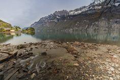Lake Walenstadt - Mols, Lake Walenstadt and Churfirsten Mountain Range, Canton of St. Gallen, Switzerland