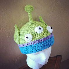 @Carman Kern Toy Story Alien Crochet Hat pattern PDF  DIY