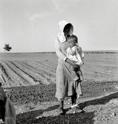 "Close to where I grew up.  The Wayfarers: 1937 | Shorpy Historic Photo Archive  Dorothea Lange  May 1937. ""Mother and child of Arkansas flood refugee family near Memphis, Texas. These people, with all their earthly belongings, are bound for the lower Rio Grande Valley, where they hope to pick cotton."""