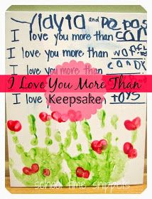 I Love You More Than Keepsake: great way to sneak in writing practice!
