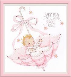 Little Gift. Baby Cross Stitch Patterns, Cross Stitch Art, Cross Stitch Designs, Cross Stitching, Cross Stitch Embroidery, Cross Stitch Beginner, Free Baby Stuff, Embroidery Kits, Little Gifts