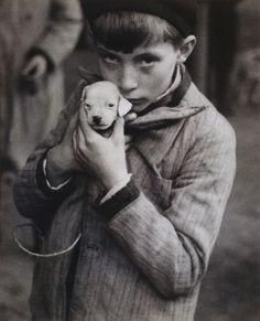 Boy with little dog