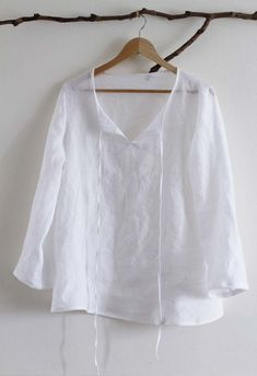 Sewing for Me: Japanese pattern blouse - Sanae Ishida - love the narrow neck ties