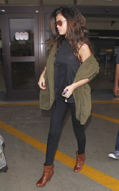 Selena Gomez dashes through LAX airport in chic jet-set look