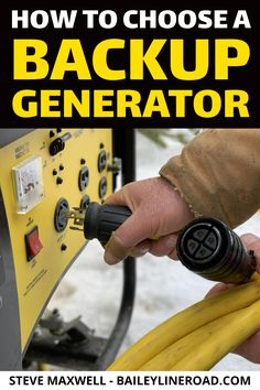 Want the most economical kind of backup to provide for your home or cottage or off-grid building project? Learn more here. Also, don't forget to enter the Champion Power Equipment Emergency Generator, Emergency Power, Emergency Preparedness, Home Electrical Wiring, Transfer Switch, Generators, Stevia, Van Life, Giveaways