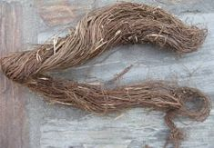 natural nettle fiber with bark raw lokta