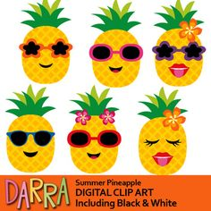 Cute pineapple clipart featuring funky pineapple face with sunglasses. Fun graphic for making summer activities and crafts.You might also like this pineapple clipart setLink-Father's day clipart / Summer Arts And Crafts, Arts And Crafts For Adults, Easy Arts And Crafts, Crafts For Kids To Make, Kids Crafts, Arts And Crafts Interiors, Arts And Crafts Furniture, Sand Crafts, Rock Crafts