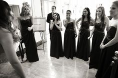 Bridesmaids see Allison for the first time
