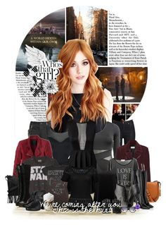 """""""// We're coming after you This is the hunt"""" by mikaelsonlegacy ❤ liked on Polyvore featuring art, claryfray, shadowhunters and polyvoreeditorial"""