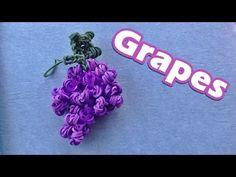 ▶ Rainbow Loom Charms: GRAPES Design / Tutorial (DIY Mommy) - YouTube