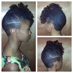 Naturally Beautiful Hair: Gorgeous Cornrow and twist style