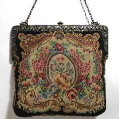 Vintage Antique Petit Point Purse Sterling Silver Chinese Export Silver Sung | eBay