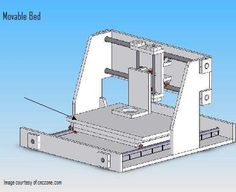 Build your own CNC router Step The frame Wood Shop Projects, Cnc Projects, Homemade Cnc, Diy Cnc Router, Vinyl Cutter, Cnc Machine, Build Your Own, Woodworking Plans, 3d Printer