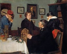 Harriet Backer - The Farewell
