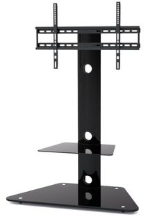 1home Cantilever Glass TV Stand with Swivel Bracket for: Amazon.co.uk: Electronics