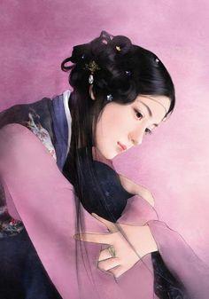 @PinFantasy - Chinese art, - ✯ http://www.pinterest.com/PinFantasy/arte-~-la-mujer-en-el-arte-chino-women-in-chinese-/