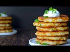 Cheesy Leftover Mashed Potato Pancakes | Just a Taste