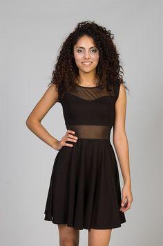 sweetheart mesh cutout dress