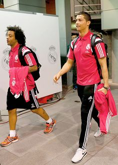 """Cristiano Ronaldo and Marcelo Arrival In Santiago Bernabeu 