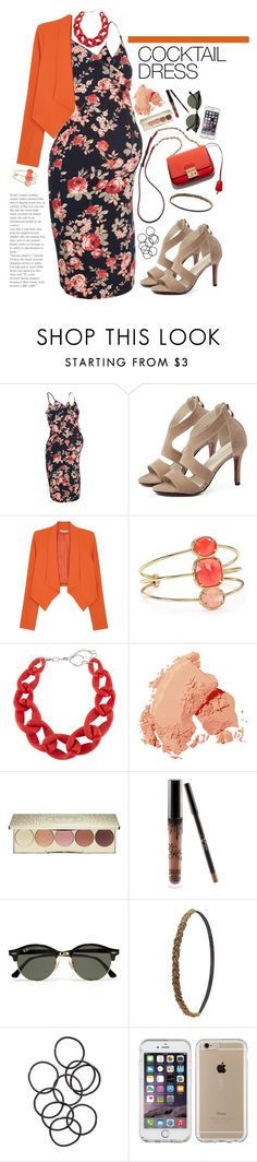 """Maternity Glamour: COCKTAIL DRESS"" by vale14m ❤ liked on Polyvore featuring New Look, Alice + Olivia, Kate Spade, DIANA BROUSSARD, Bobbi Brown Cosmetics, Becca, Ray-Ban, Charlotte Russe, H&M and Speck"