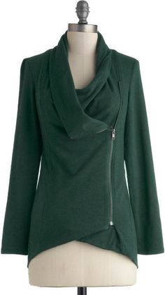 Modcloth  Airport Greeting Cardigan in Forest