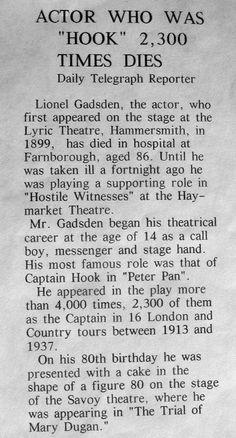 Obituary: Lionel Gadsden the actor