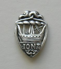 Vintage Iona Alexander Ritchie Viking Ship Brooch  This fun vintage Iona brooch was designed by Alexander Ritchie.  This brooch was first made about 1905 and was in production for a number of years after that.  This brooch was made in 1936.  The brooch measures just over 1 1/2 inches by just under 1 1/8ths inches.