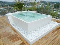 Pebble Rocks below hot tub could be cool
