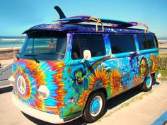 VW Van: blast from the past! We can't wait to see the VW show at Wine Waves and Beyond June 2, 2013!