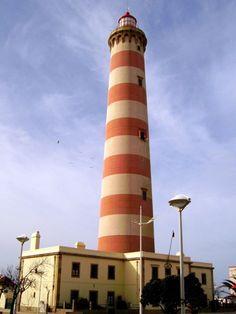 Aveiro Lighthouse. Aveiro, Portugal. Pink. Red. White.