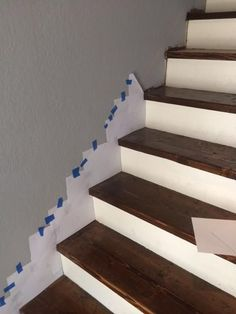 How to make a skirt board for preexisting stairs. How to make a skirt board for preexisting stairs. Stairs Skirting, Stairs Trim, Stair Trim Ideas, Open Stairs, Stair Skirt Board, Stairs Without Skirt Board, Basement Steps, Basement Plans, Staircase Remodel