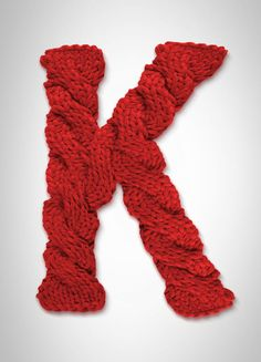 I want to knit a D and hang it on our front door.
