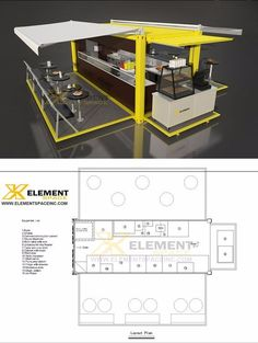 Prefabricated food containers restaurant design , POP-UP Mobile modular…: