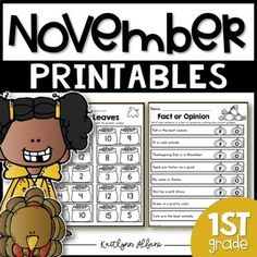 This packet is full of math and literacy fun for the month of November or any time you need a little extra practice during the Fall season!