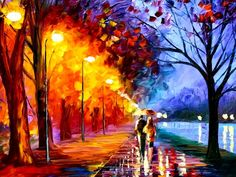 easy oil paintings for beginners | Autumn Oil Paintings