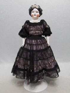 "22"" Beautiful Antique Reproduction Vintage Emma Clear China Head Lady Doll ""TLC"" 
