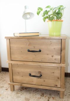 Items similar to FIR Wood bedside table on Etsy Dresser As Nightstand, Bedside, Home Bedroom, Bedrooms, Wood, Awesome, Table, Etsy, Furniture