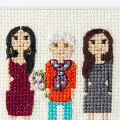 """121 Likes, 6 Comments - Cross stitch family portraits (@famolya) on Instagram: """"Have you seen these beauties a post back?I love how these wonderful ladies turned out.And…"""""""