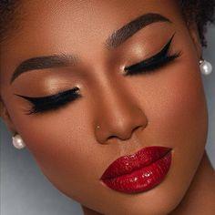 Comely Facial Makeup Ideas for the Christmas Season - Ani Exclusive Makeup For Black Skin, Black Girl Makeup, Full Face Makeup, Girls Makeup, Perfect Makeup, Cute Makeup, Gorgeous Makeup, Makeup Tips, Beauty Makeup