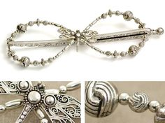 Lilla Rose Inc - Filigree dragonfly alights this Mega Flexi with accents of etched silver beads
