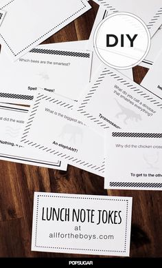 Printable Lunch Note Jokes to Add a Laugh to Their School Day