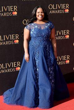 Amber Riley #AmberRiley on Red Carpet  Olivier Awards 2017 in London Celebstills Amber Riley