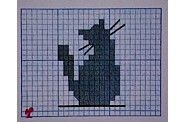 Embroidery Applique, Cross Stitch Embroidery, Crochet Crafts, Crochet Projects, Cat Silhouette, Cross Stitch Animals, Cat Crafts, Knitting Charts, Le Point
