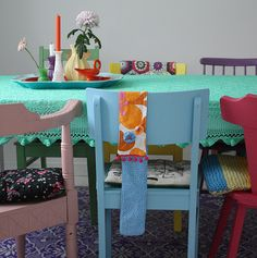bright table set