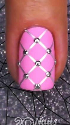 Beginner Nail Designs, Nail Art For Beginners, Nail Art Designs Videos, Nail Design Video, Diy Nail Designs, Simple Nail Art Designs, Nail Art Hacks, Nail Art Diy, Diy Nails Videos
